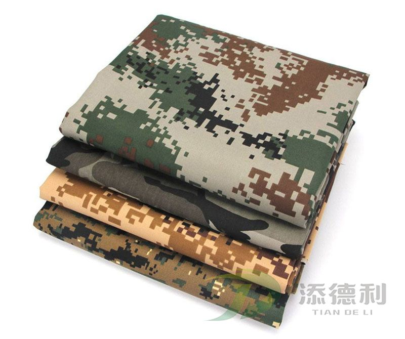 Camouflage Printed Canvas Cotton Fabrics