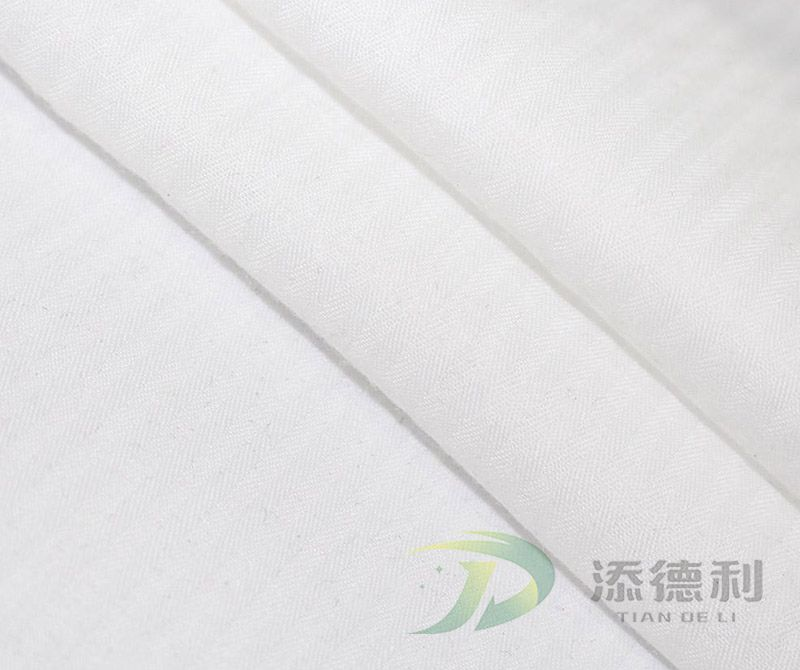 Cotton Bleached Herringbone Fabrics