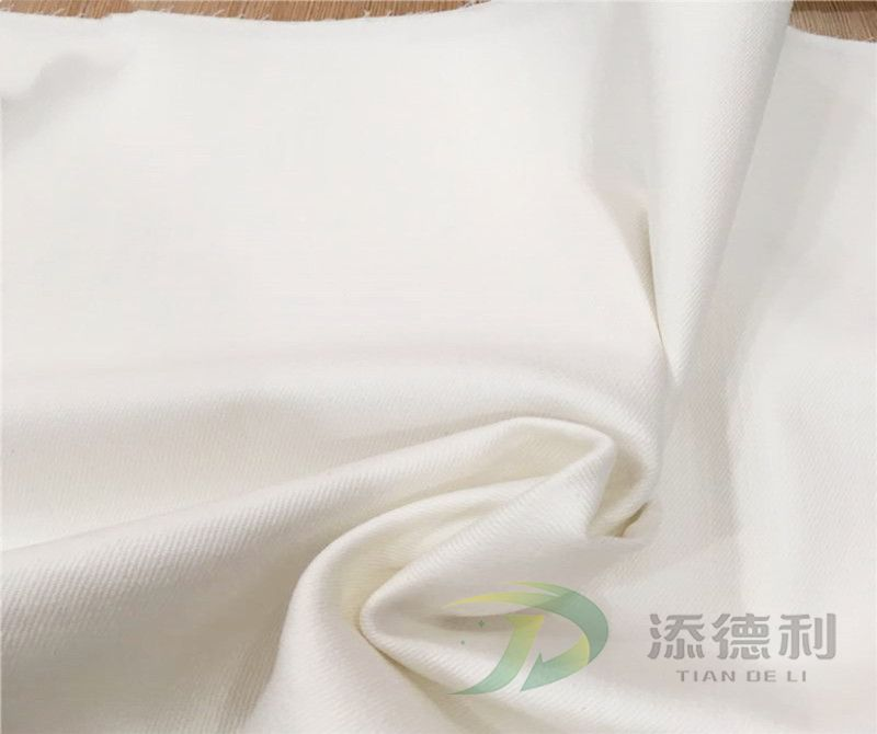 twill bleached T/C fabric