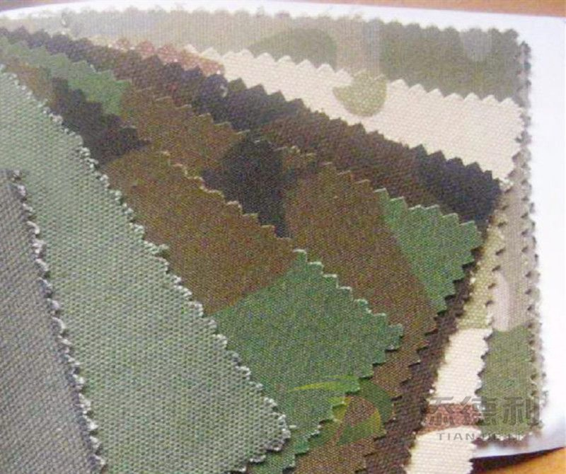 canvas camouflage printed T/C fabric