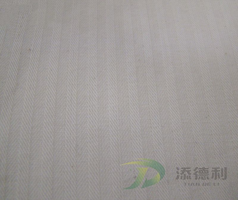 herringbone greige cotton fabric