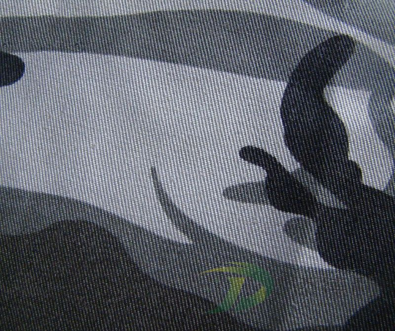 polyester twill printed fabric
