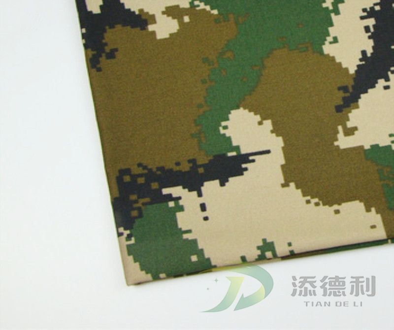 polyester canvas camouflage printed fabric