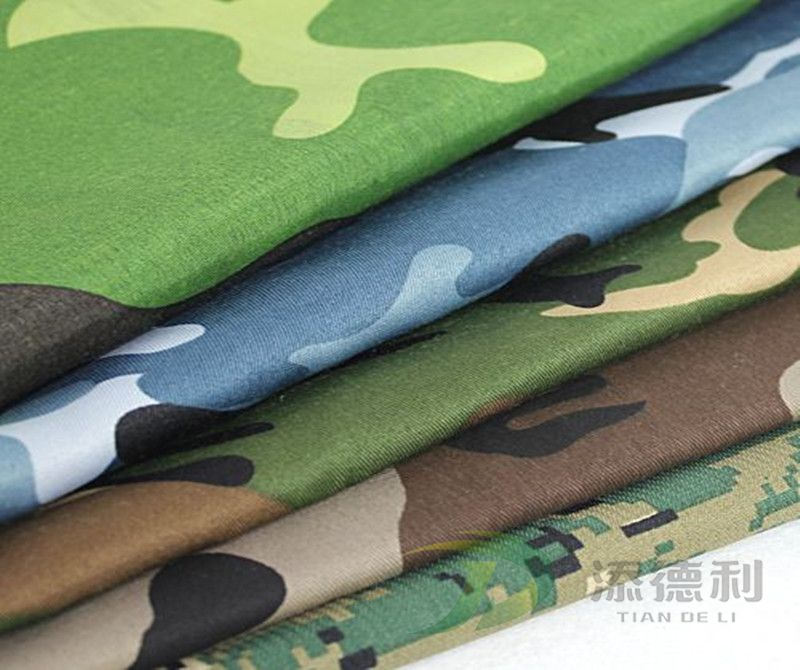 T/C canvas camouflage printed fabric