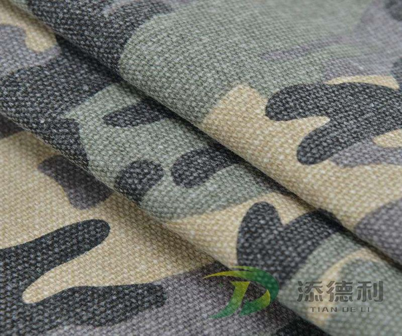 canvas camouflage printed polyester fabric