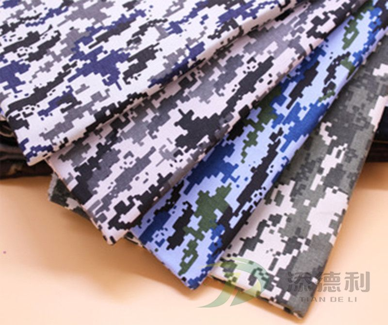 cotton canvas camouflage printed fabric