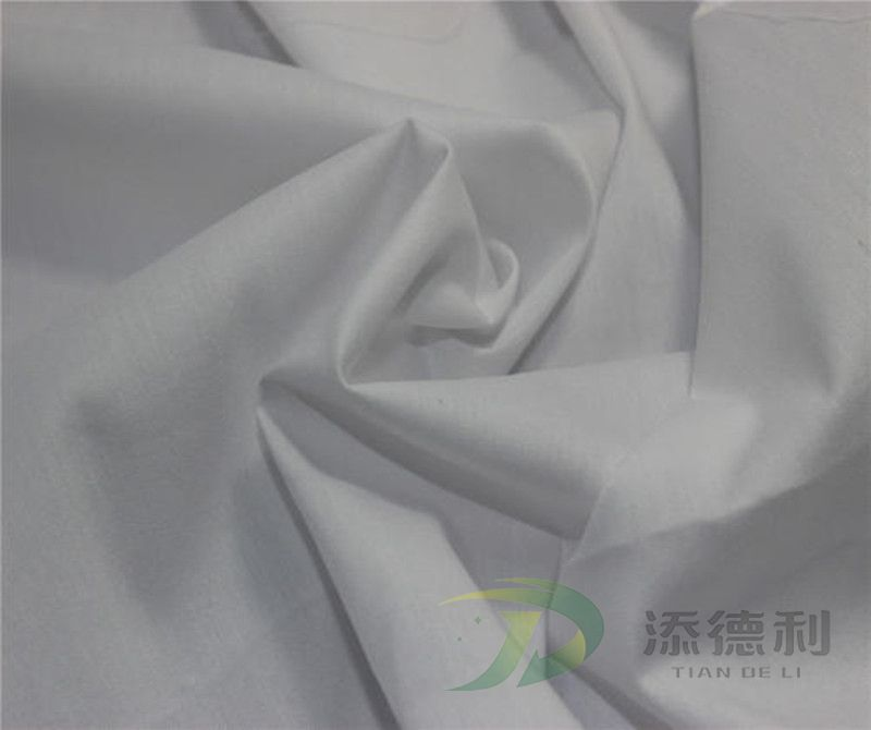 poplin polyester/cotton plain grey fabric