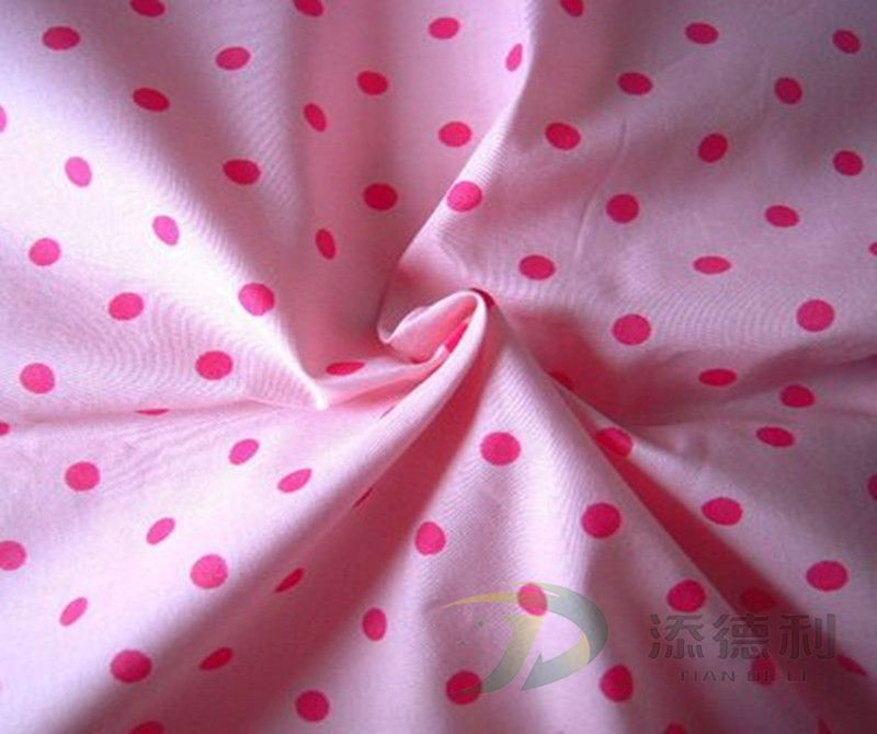 poplin polyester/cotton plain printed fabric