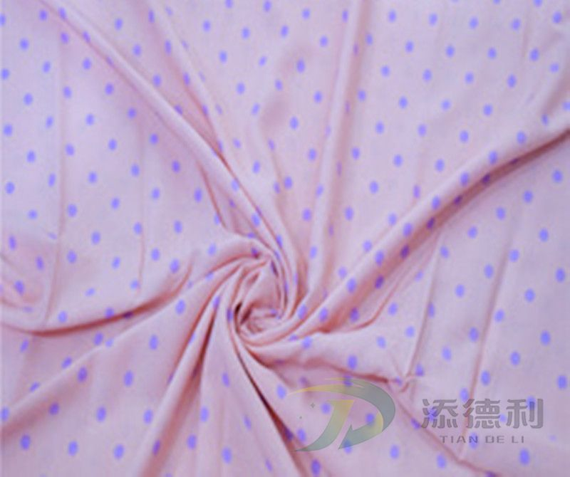 taffeta polyester plain printed fabric