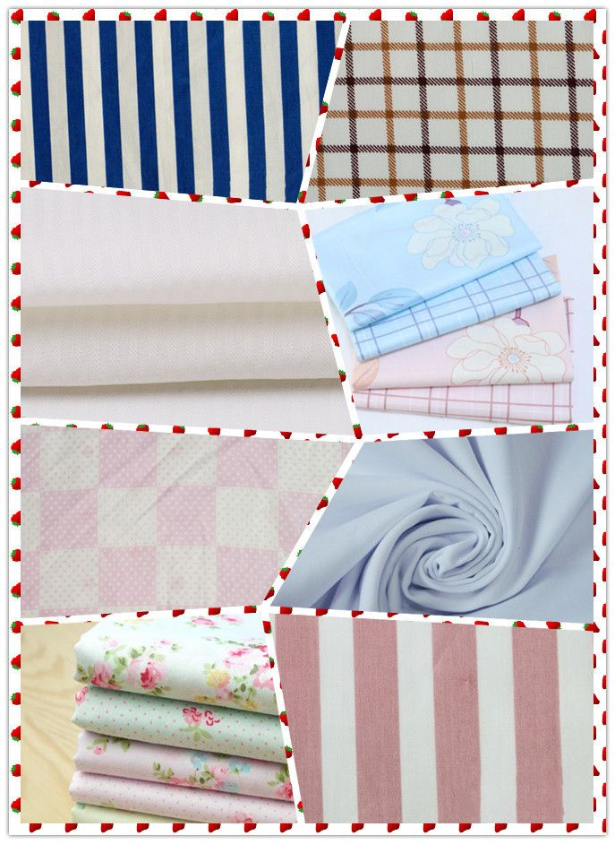 cotton plain printed fabric